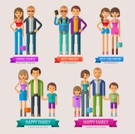 people vector logo design template happy family or friends loving