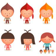 kids children youth friends happiness cartoon character illustration