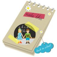 Children paper scrapbook School design