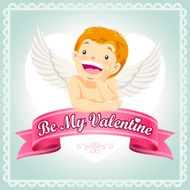 Be My Valentine Cupid Card
