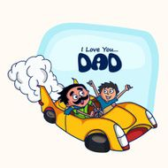 Greeting card design for Happy Father's Day celebration