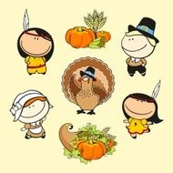 Funny kids - thanksgiving day