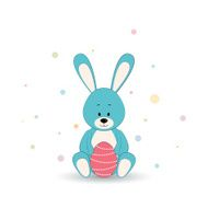 Easter rabbit with egg