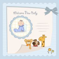 Baby shower card N84