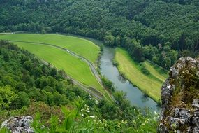 danube nature rock landscape river valley