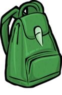 clipart,green backpack