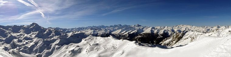 panoramic view of the alps
