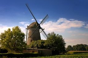 old windmill in countryside