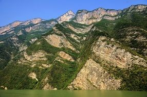 Three gorges near the Yangtze River, China