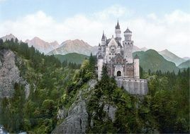distant view of neuschwanstein castle