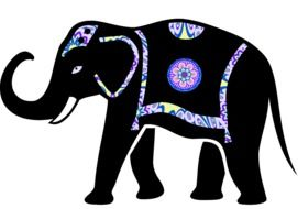 animal elephant vector drawing