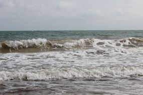 waves of the Mediterranean at high tide