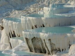 Limestone terraces in Pamukkale