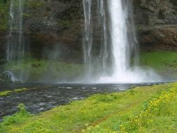 Photo of the waterfall in the Iceland
