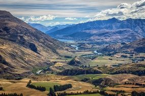 Mountain landscape in New Zealand