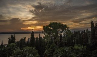 lake garda italy cloud sky sunset