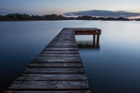 jetty on calm lake