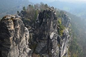 scenic elbe sandstone mountains in Switzerland