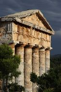 ancient greek Temple of Segesta, italy, sicily