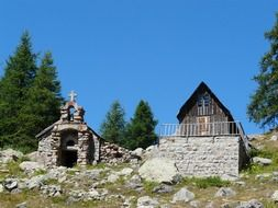 Chapel near Allos Lake