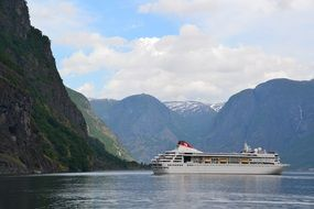 cruise liner in norway