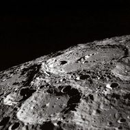 craters on the moon close up