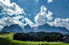 landscape of the mountains in Dolomites