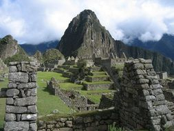 landscape of the machu pichu