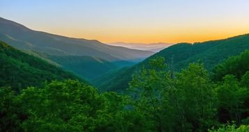 morning over the mountains of the blue ridge