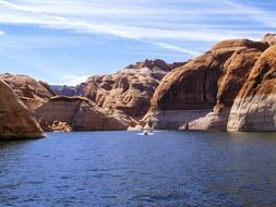 lake powell among the rocks in arizona