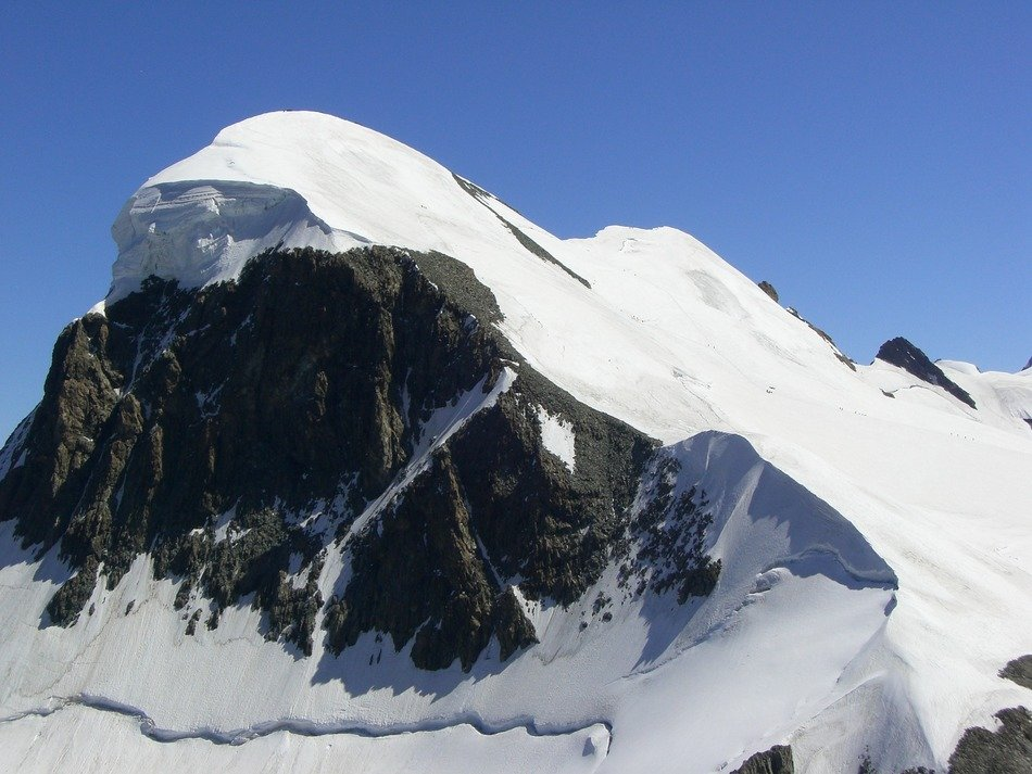 breithorn mountain in snow