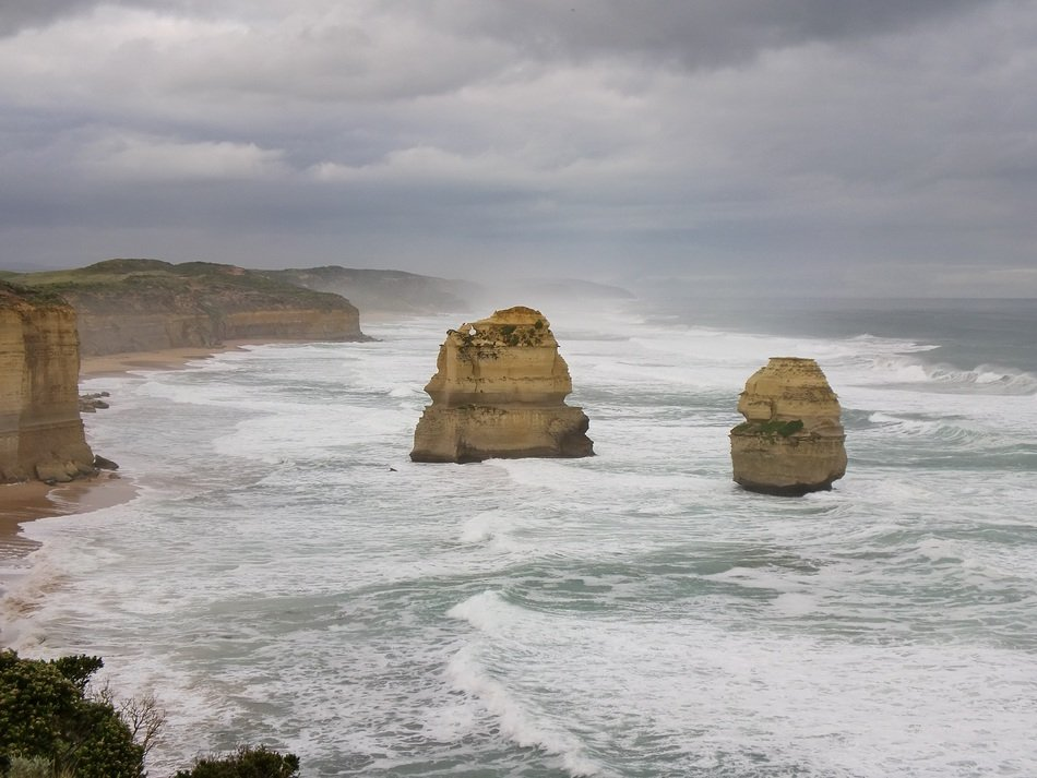 panorama of the beach of the twelve apostles in australia