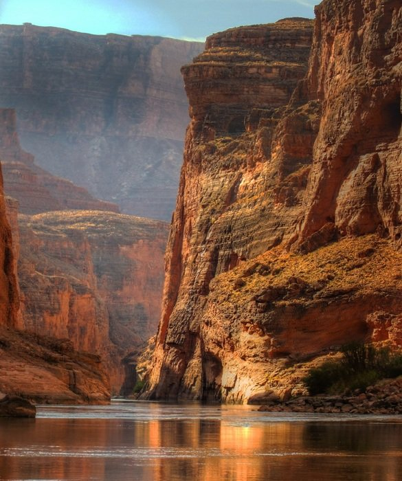 river among the rocks in the Grand Canyon