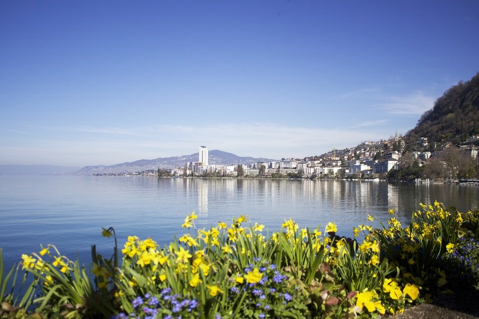 Montreux - a city on the shore of the lake