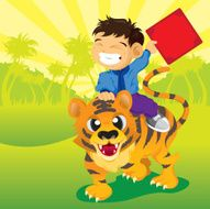 Boy on Tiger