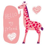 Cute vector giraffe N2