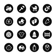 Baby Icons - Black Circle Series