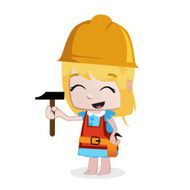 Little Girls - Professions builder N2