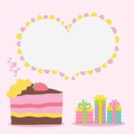 Happy Birthday card background with cake N8