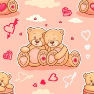 teddy bears in love samless