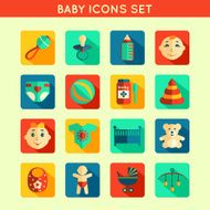 Baby Child Icons Set N2