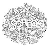 School hand lettering and doodles elements N4