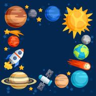 Background of solar system planets and celestial bodies N5