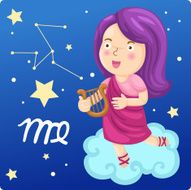 Zodiac signs -Virgo Illustration N2
