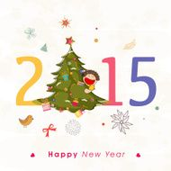 Happy new year 2015 Text Design N13
