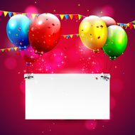 Modern red birthday background with place for text N2