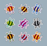 Cute vector bees