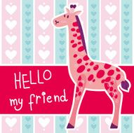 Cute vector giraffe N5