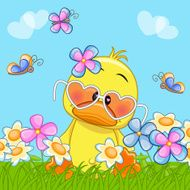 Duck With Flowers N6