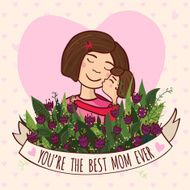 Greeting card for mom with love